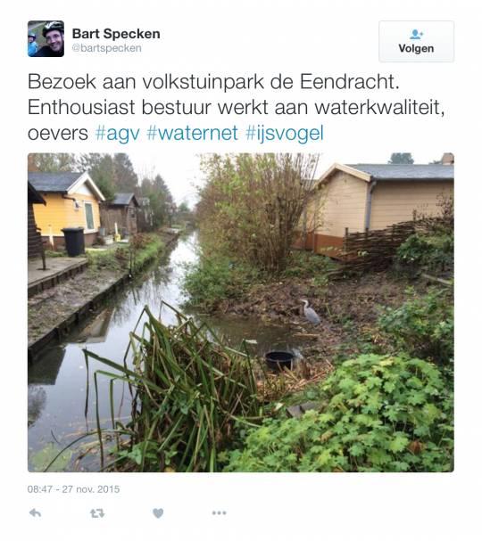 Bart Specken twittert over De Eendracht
