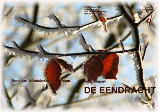 Omslag clubblad nr 112 Winter 2012