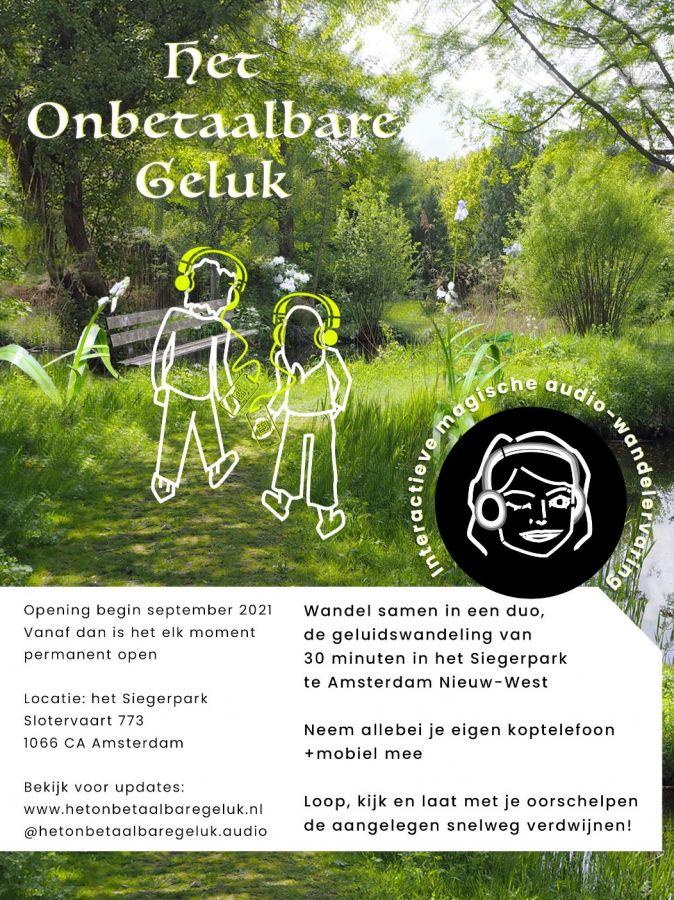 Het Onbetaalbare Geluk in het Siegerpark te Amsterdam Nieuw-West
